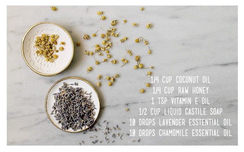 Chamomile Lavender DIY Body Wash Recipe