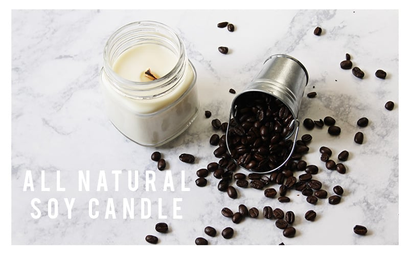 Crackling Coffee Bean Soy Candles