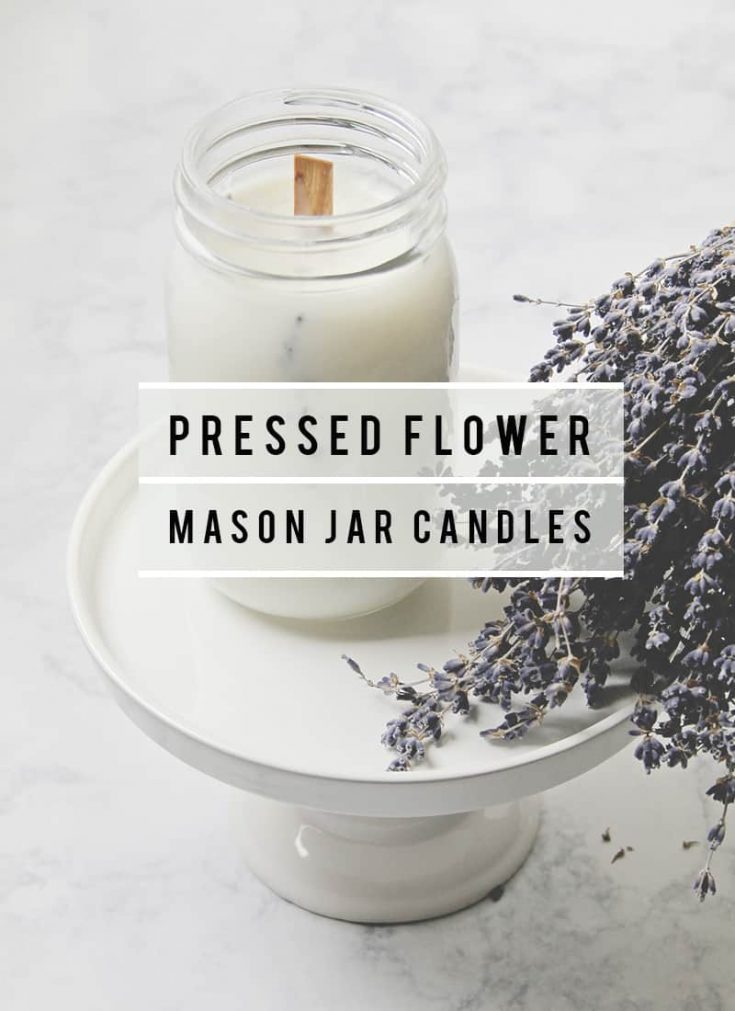 You can add a beautiful fragrance to your home with any candle, but a pressed flower mason jar candle doubles as stunning decoration!