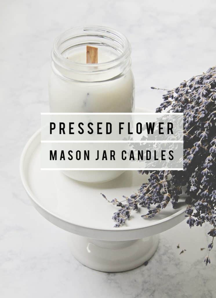 Pressed Flower Mason Jar Candles