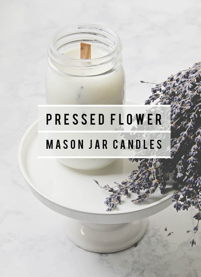 Pressed Flower Mason Jar Candles Tutorial