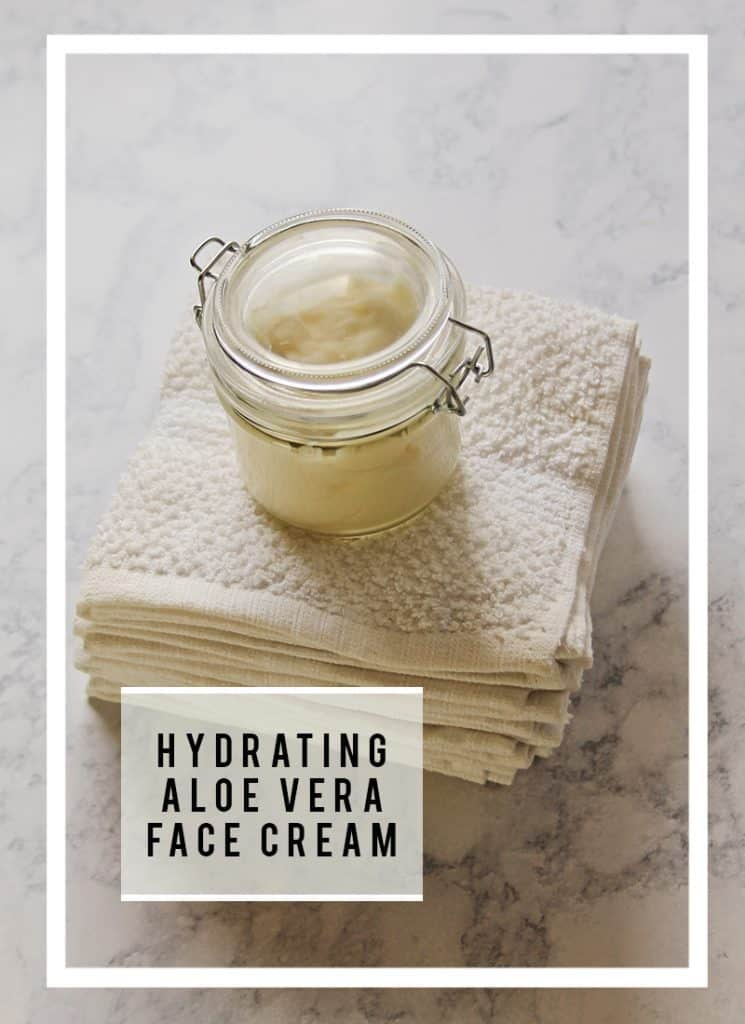 Is Aloe Vera Gel a good face moisturizer? Yes, I show you how to use it with DIY Aloe Face Cream recipe!