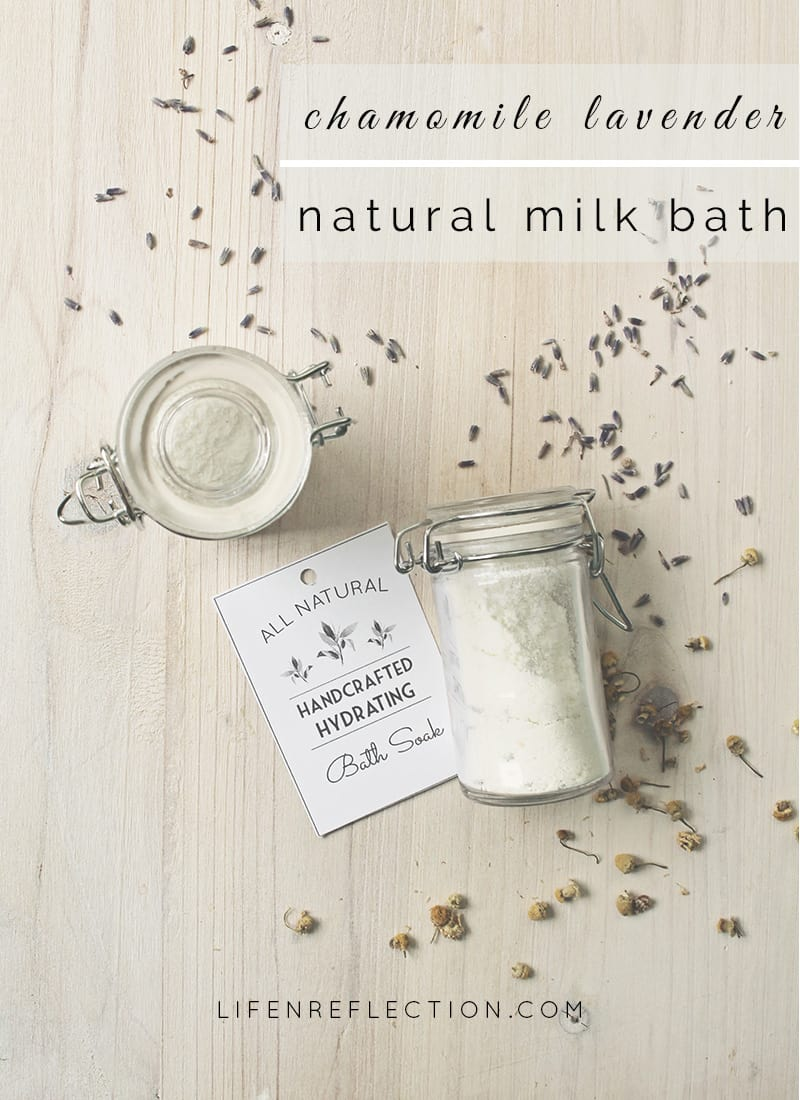 chamomile lavender milk bath