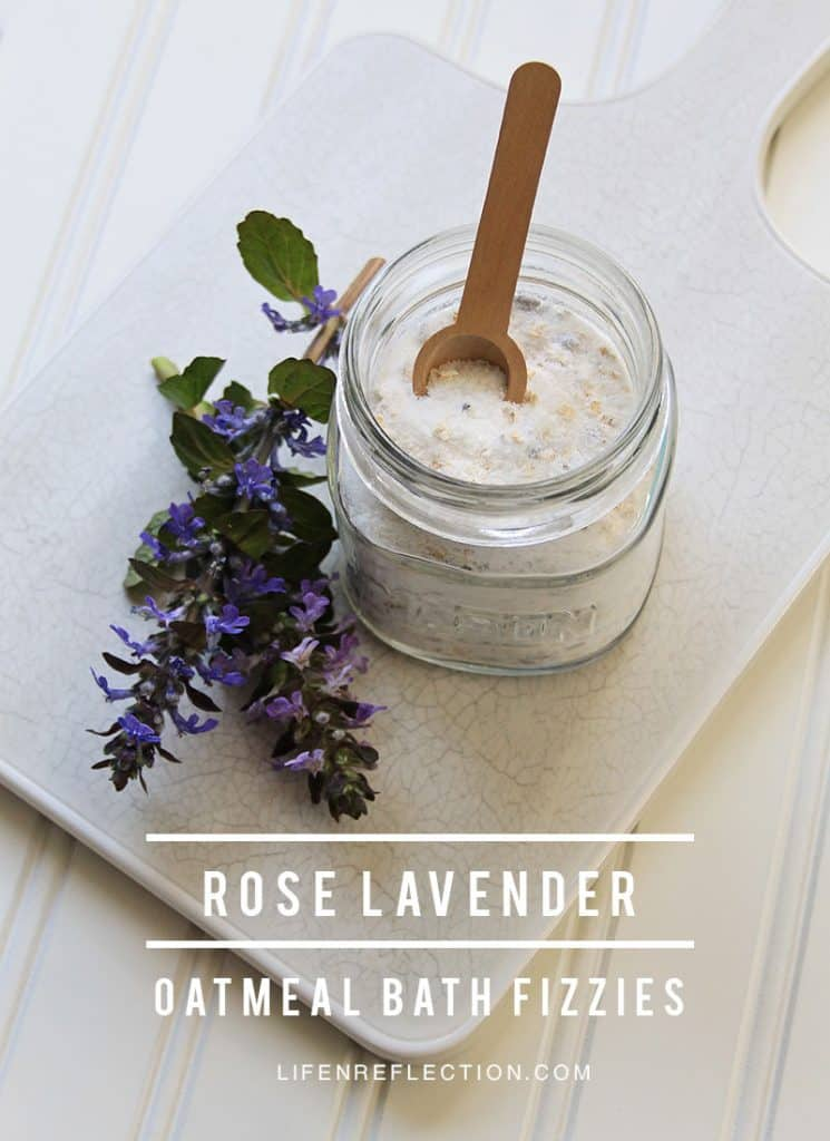Lavender Rose Oatmeal Bath Fizzies