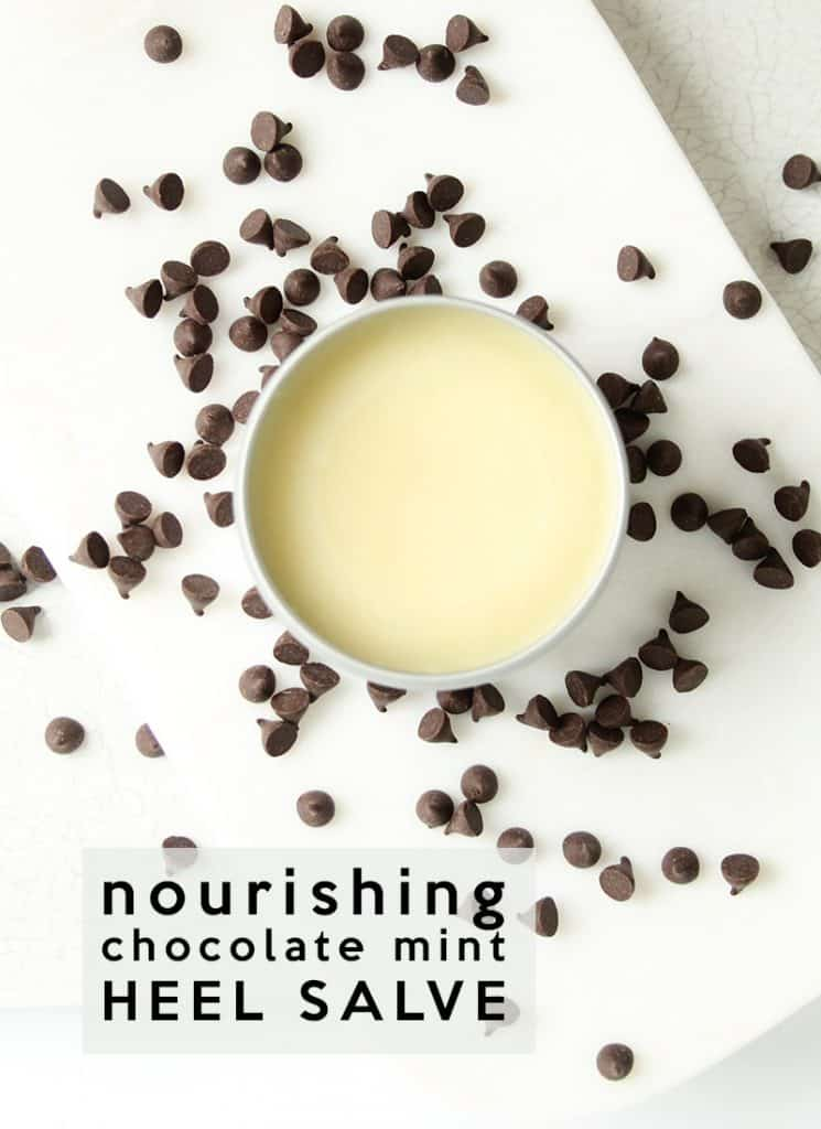 Chocolate Mint Nourishing Heel Salve Recipe