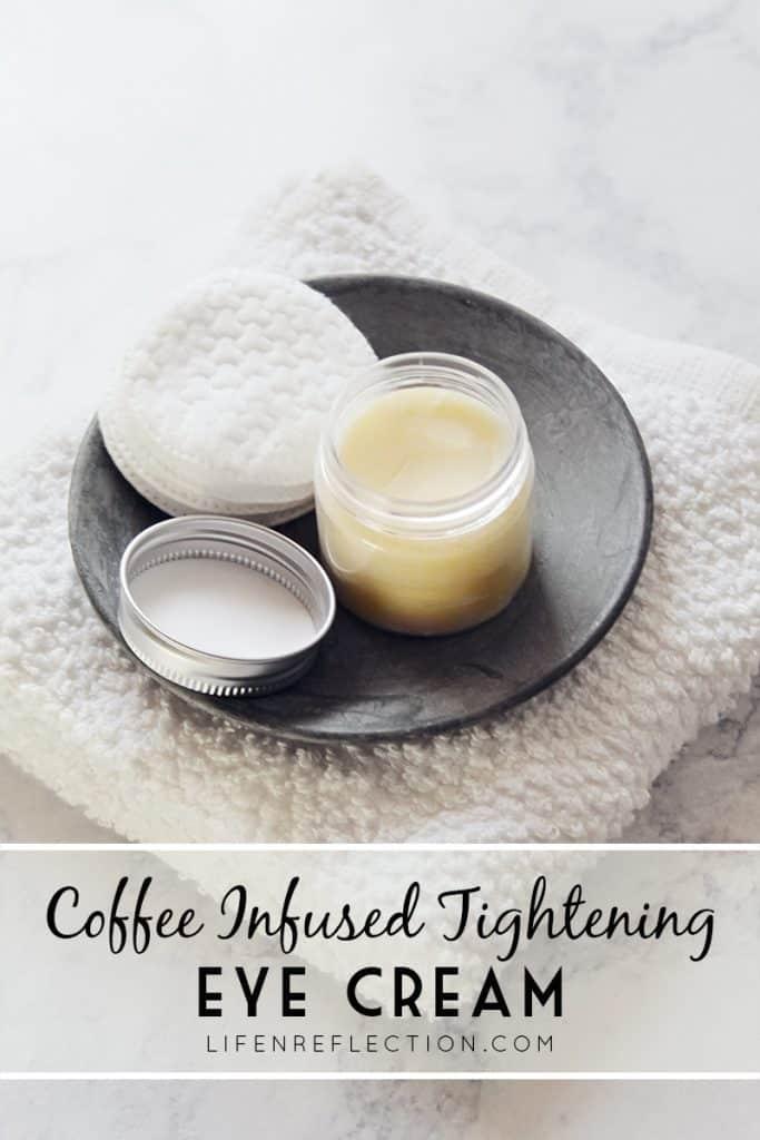 coffee infused tightening eye cream