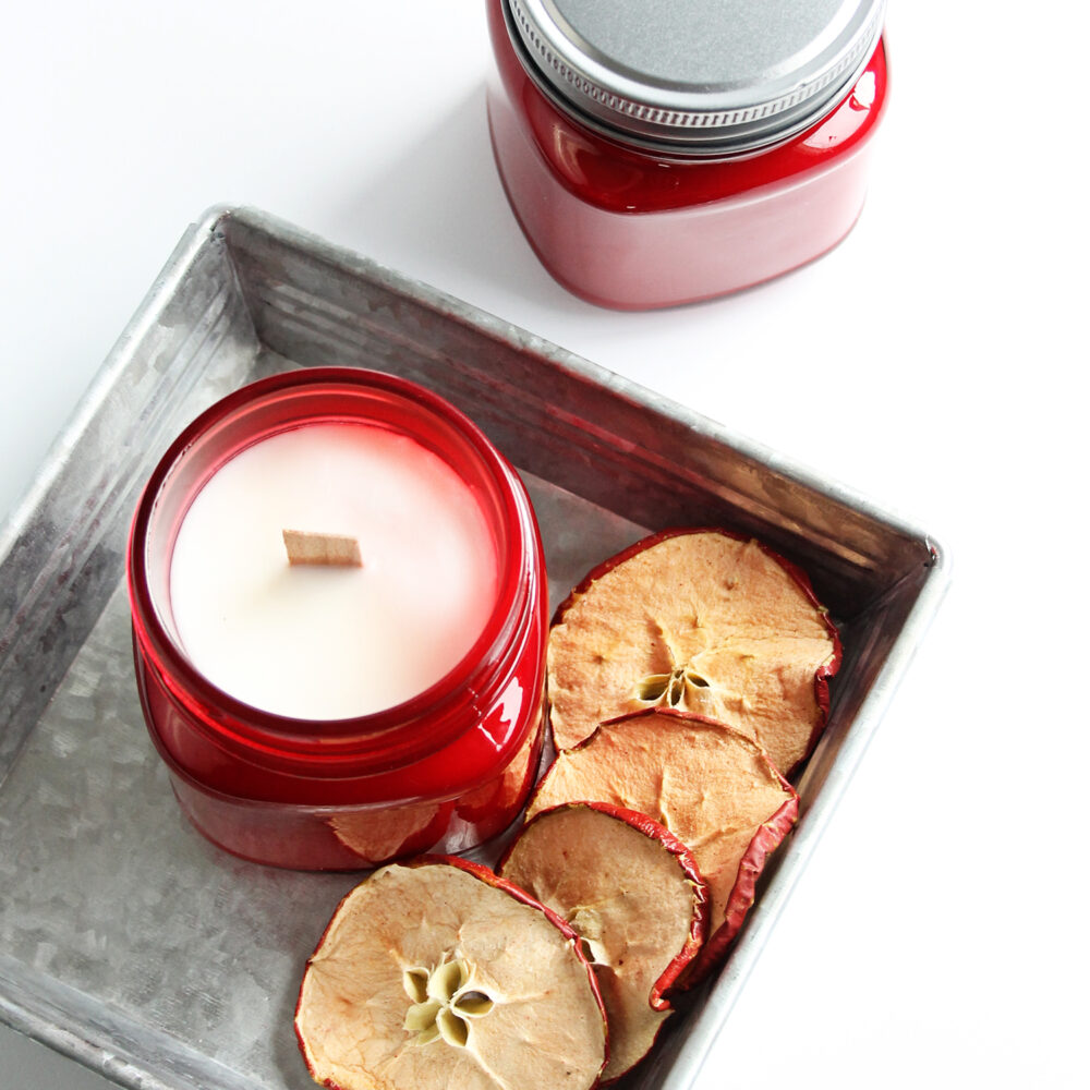 How to Make Crisp Apple Soy Candle Jars, Good All Year Round!