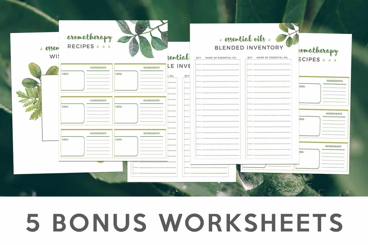 essential oil worksheets