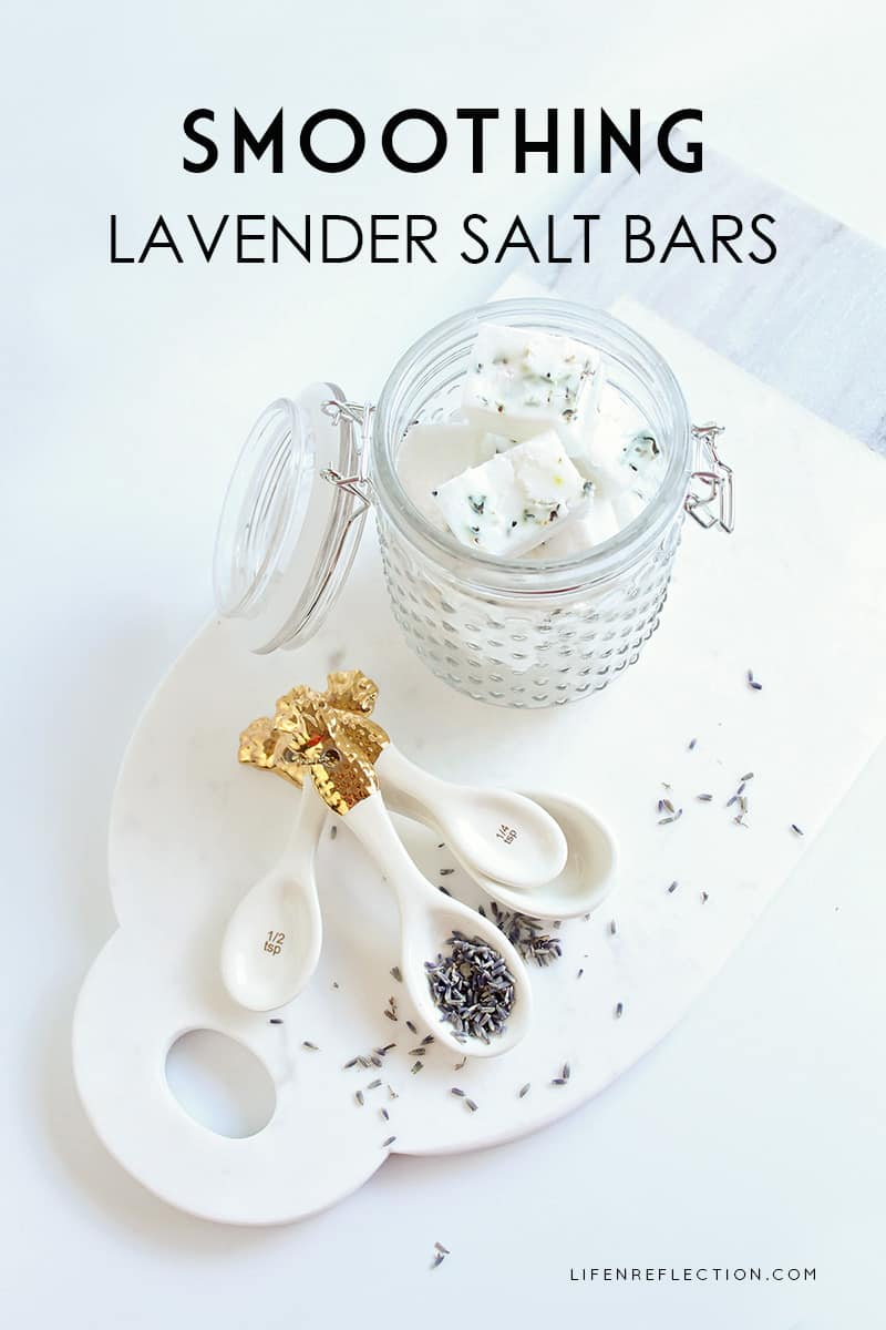Smoothing Lavender Salt Bar