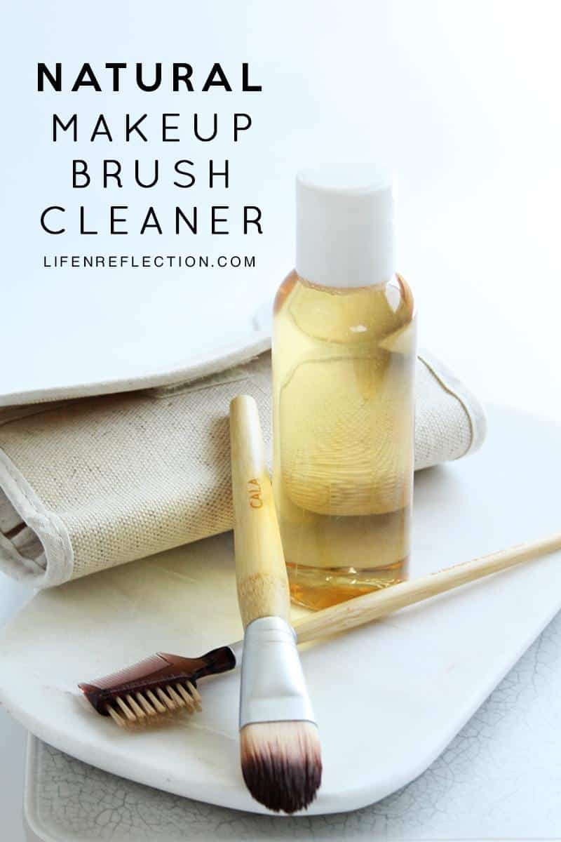 Make this No Fuss DIY natural makeup brush cleaner with just 3 ingredients.