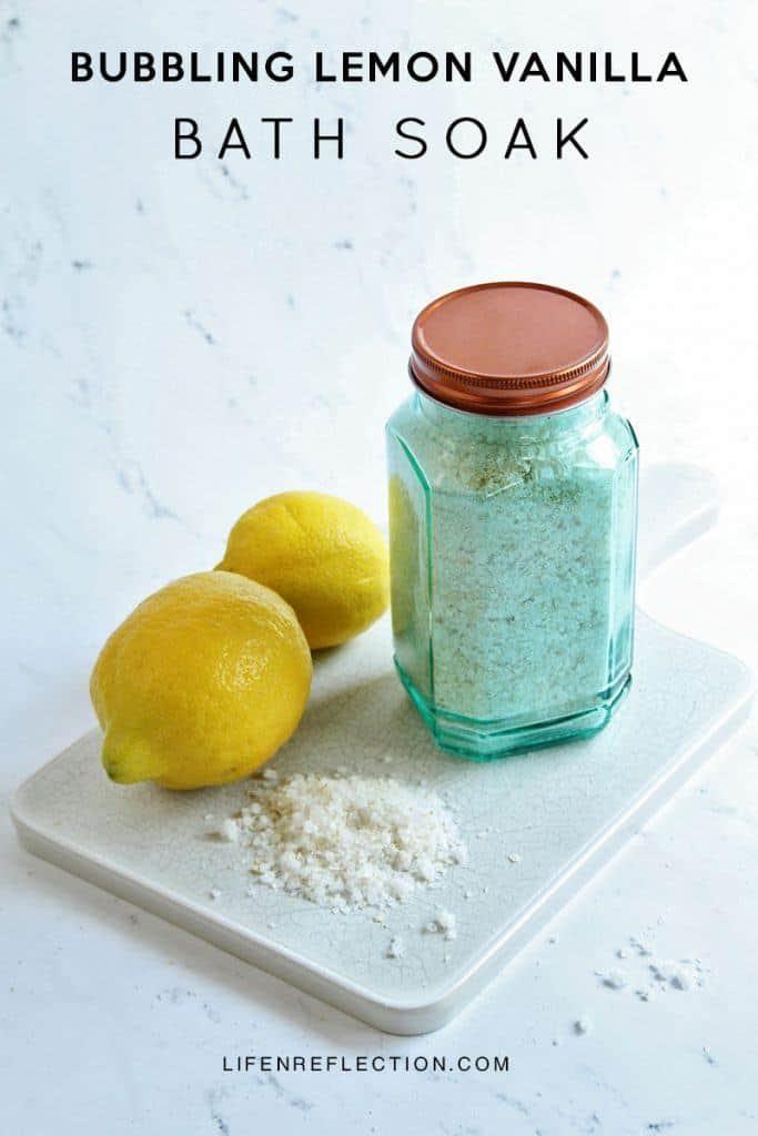 Bubbling Lemon Vanilla Bath Soak