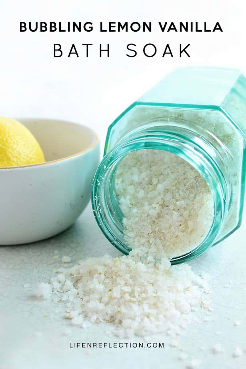 Bubbling Lemon Vanilla Bath Soak