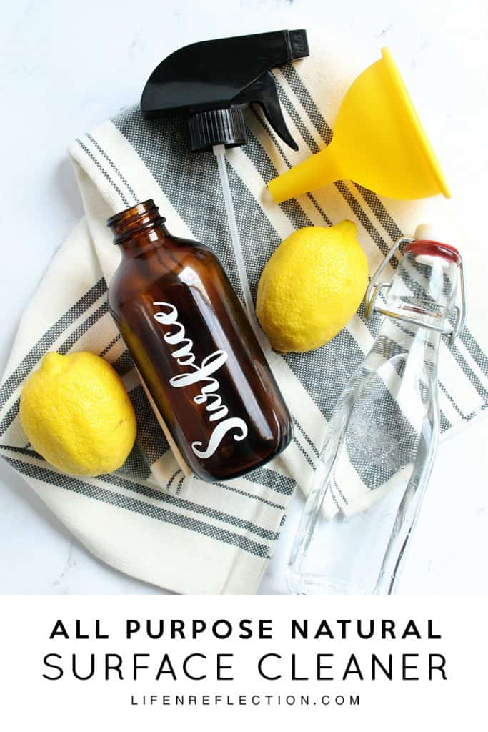 DIY All Purpose Natural Surface Cleaner Ingredients