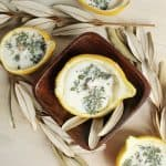 Citronella Lemon Bowl Candles