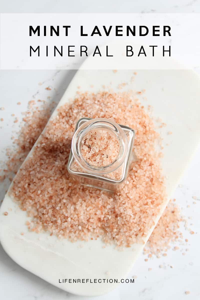 How to Make Mint Lavender DIY Mineral Bath