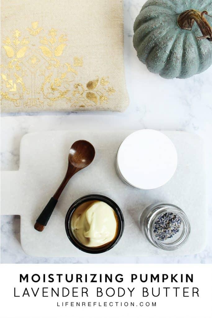 Ingredients for Moisturizing DIY Pumpkin Lavender Body Butter