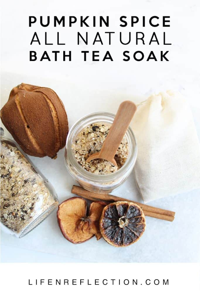 DIY Pumpkin Spice Bath Tea