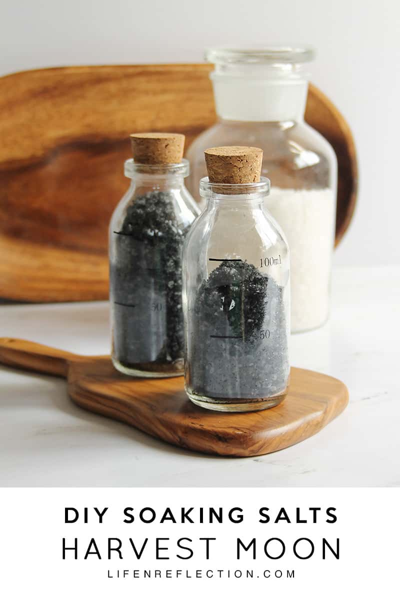 Harvest Moon DIY Soaking Salts with Activated Charcoal combine activated charcoals' unmatched ability to remove toxins from the body