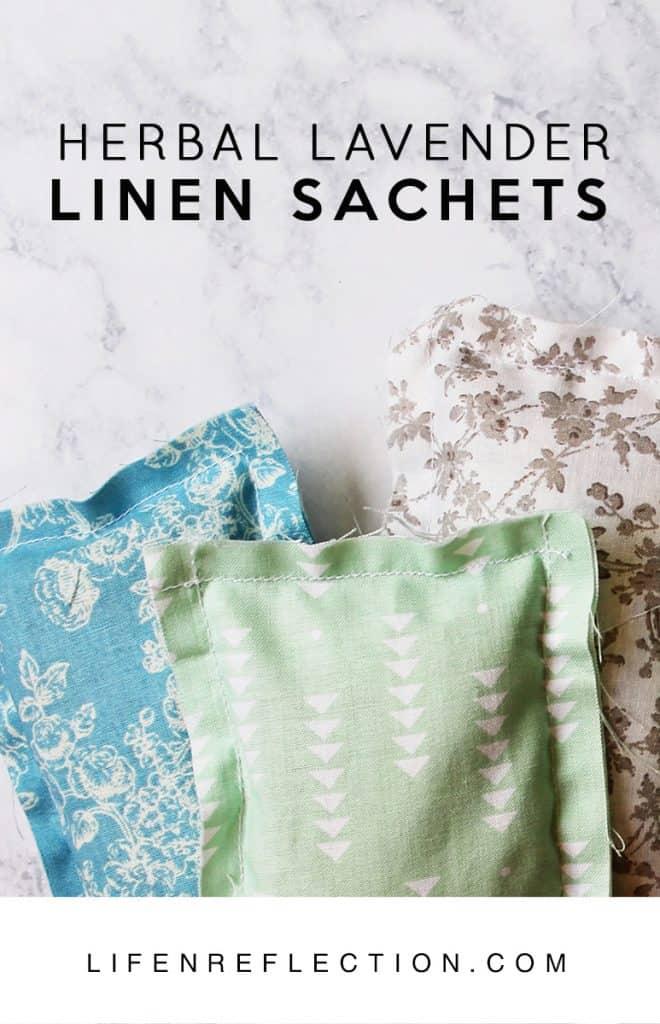 Easy homemade lavender linen sachets tutorial