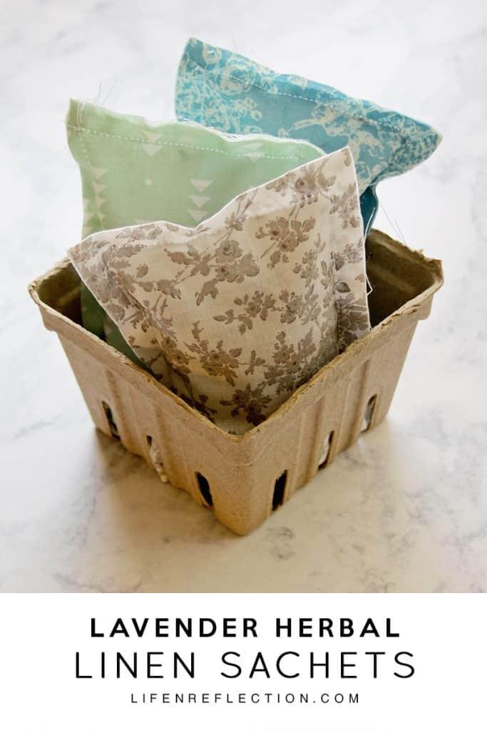 homemade lavender linen sachets for drawers