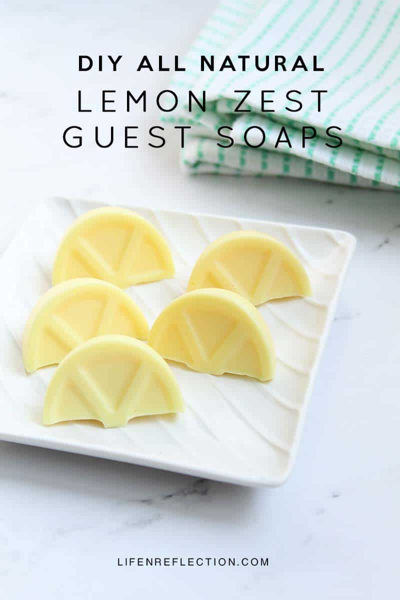 DIY Lemon Zest Hand Soap Wedges, Learn how to make your own with real lemons!