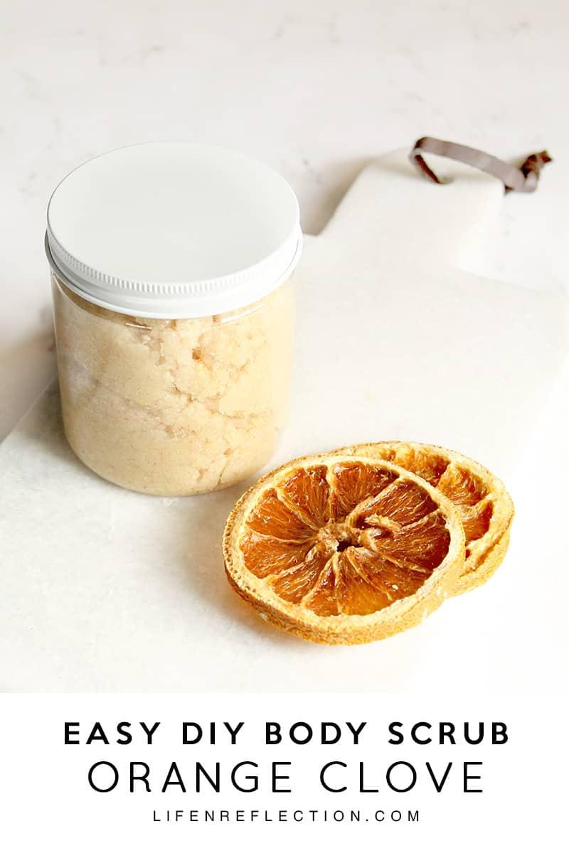 How to make a holiday de-stressing orange clove scrub / Relieve dry winter skin with a DIY orange clove scrub