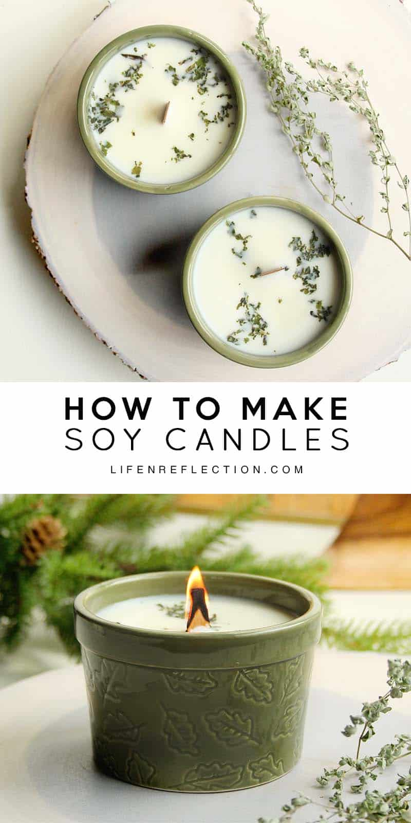 How to make blue spruce DIY hand poured soy candles