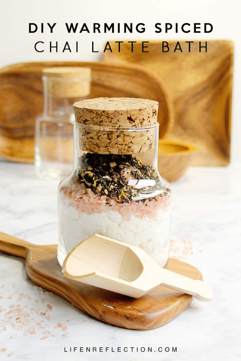 Melt into an Unforgettable Warming Spiced Chai Latte DIY Bath Soak