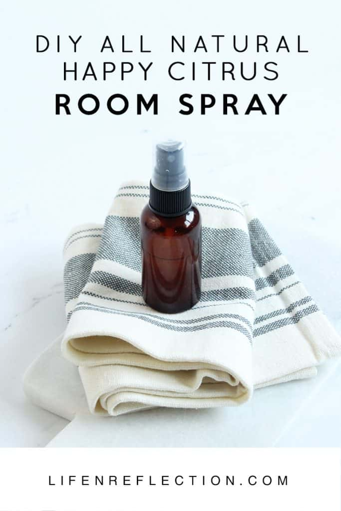 Happy Citrus DIY Essential Oil Room Spray Recipe