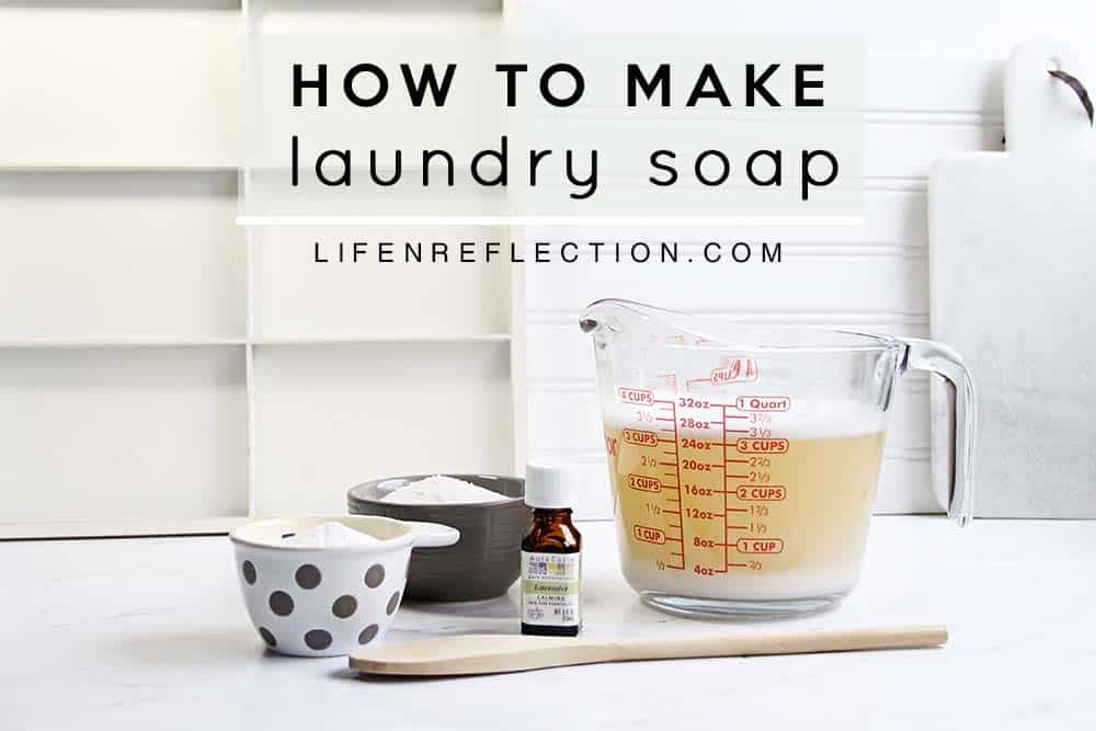 Homemade Liquid Laundry Soap Ingredients without borax