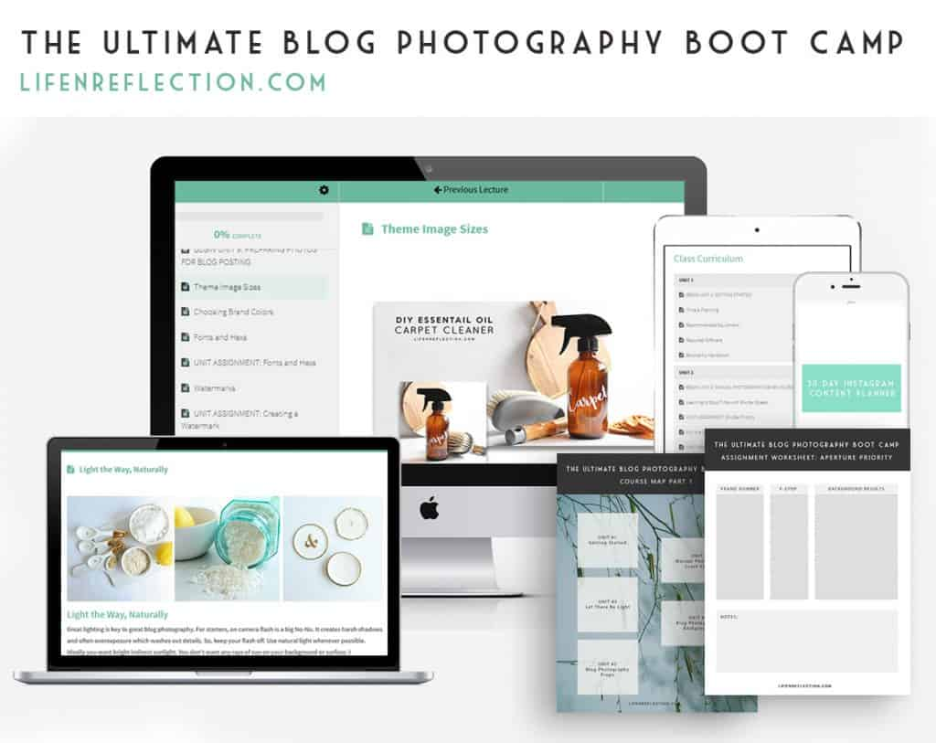 the ultimate blog photography bootcamp