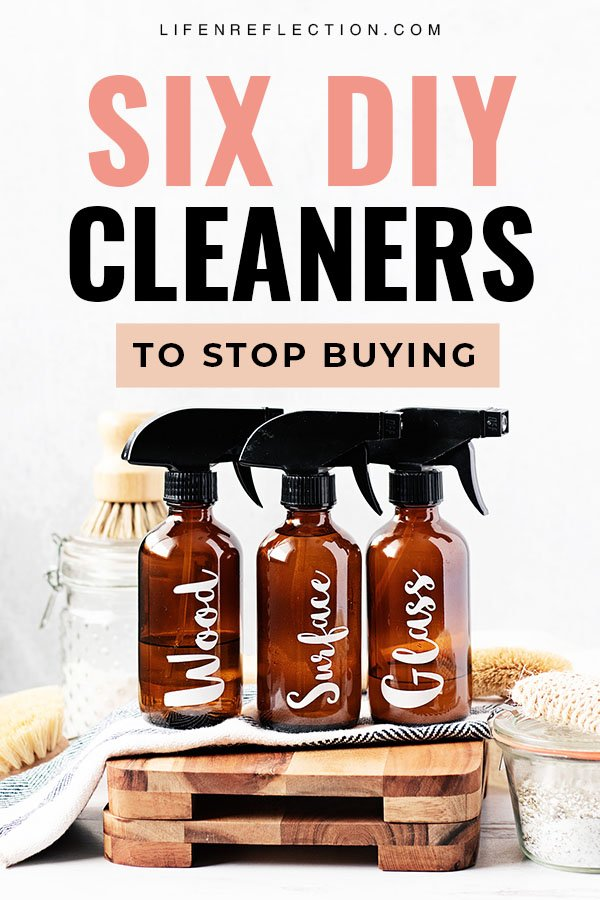 DIY cleaners are one of the easiest and effective tactics to save money,  pay off debt, or just have extra cash without starting a side hustle! Here's 6 cleaners to stop buying and make instead!