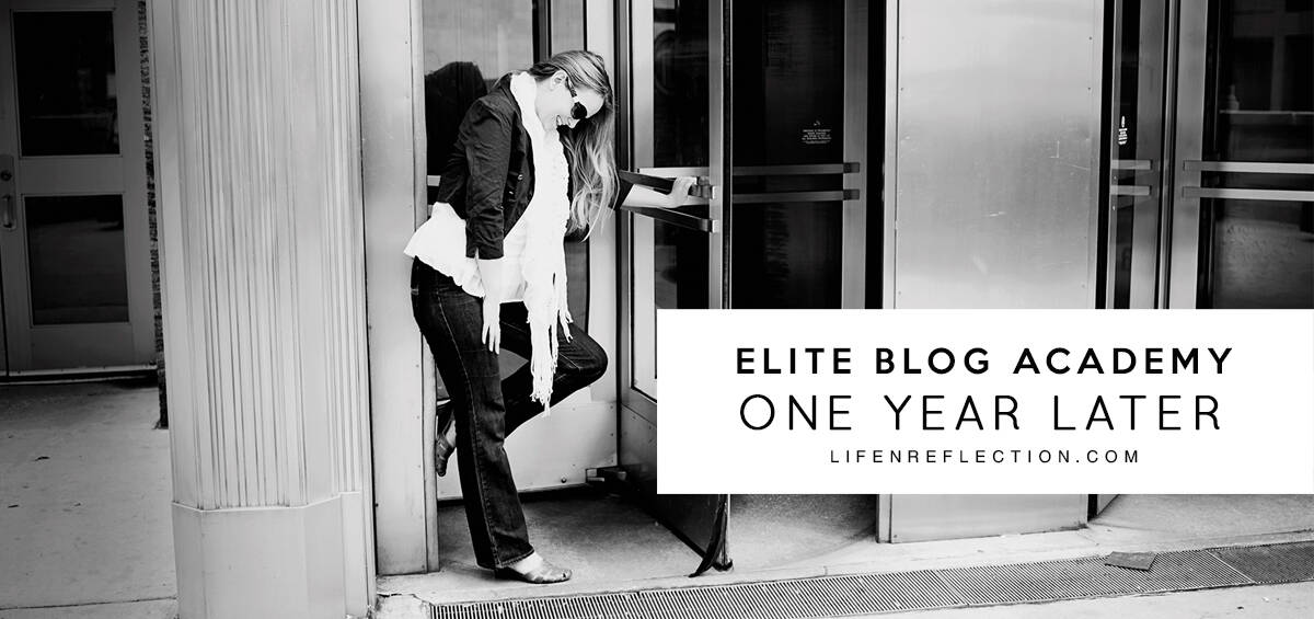Elite Blog Academy One Year Later. I share with you an inside look at where I began and I am now after enrolling in the Elite Blog Academy.