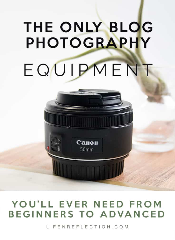 No matter what phase of blog photography you are at this is the only blog photography equipment you'll ever need! Take from me a professional photographer and blogger.