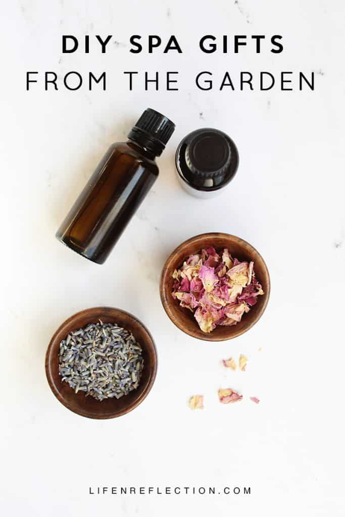 All Natural Homemade Spa Gifts from the Garden