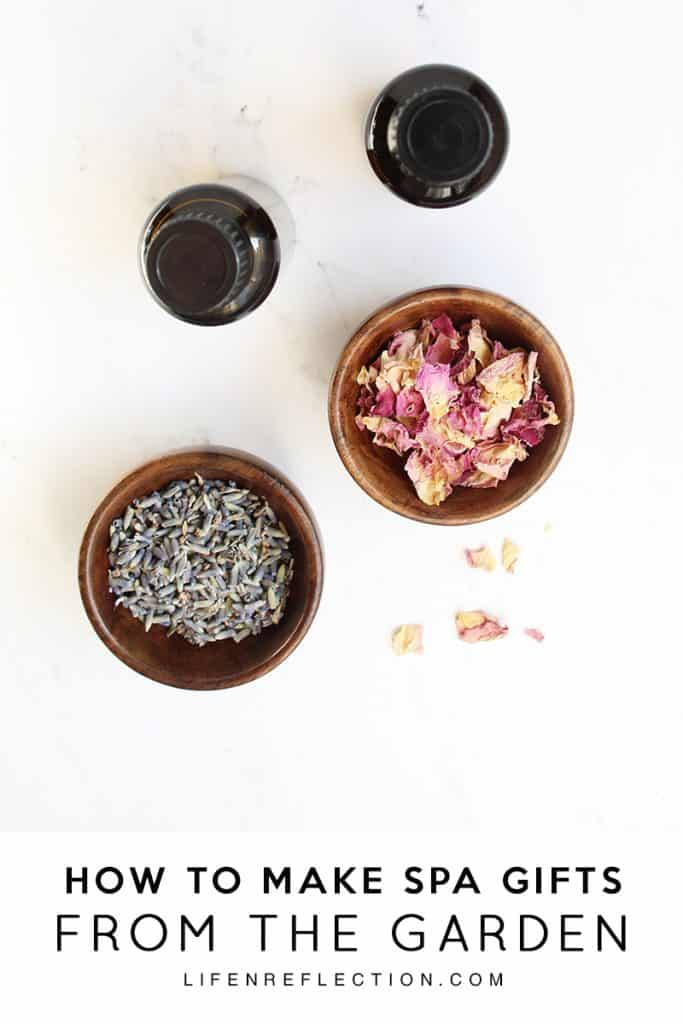 How to make homemade spa gifts from the garden
