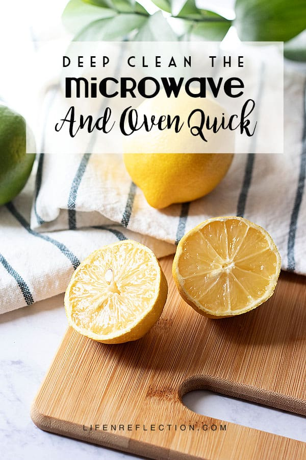 Naturally clean the microwave and oven, removing grime and grease with the power of lemons!