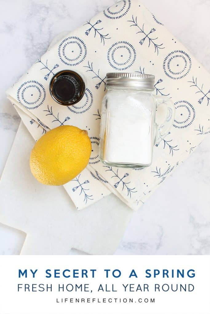 My secret to a spring fresh home all year round, every time you clean! Using all natural ingredients in just three easy steps.