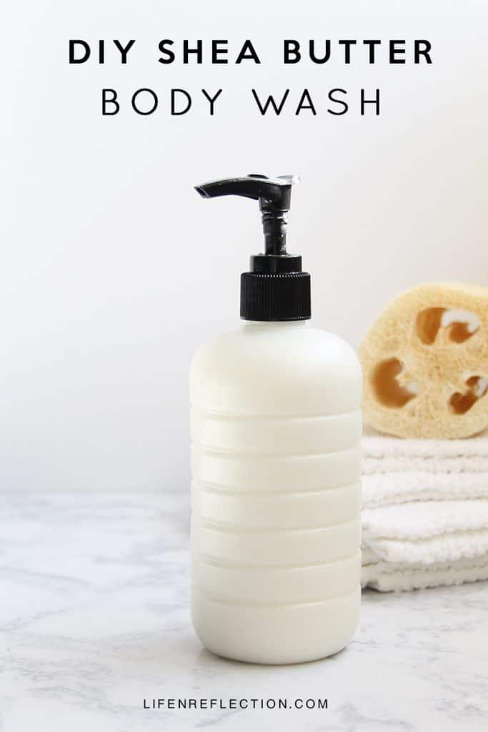 Creamy Shea Butter Homemade Body Wash Recipe