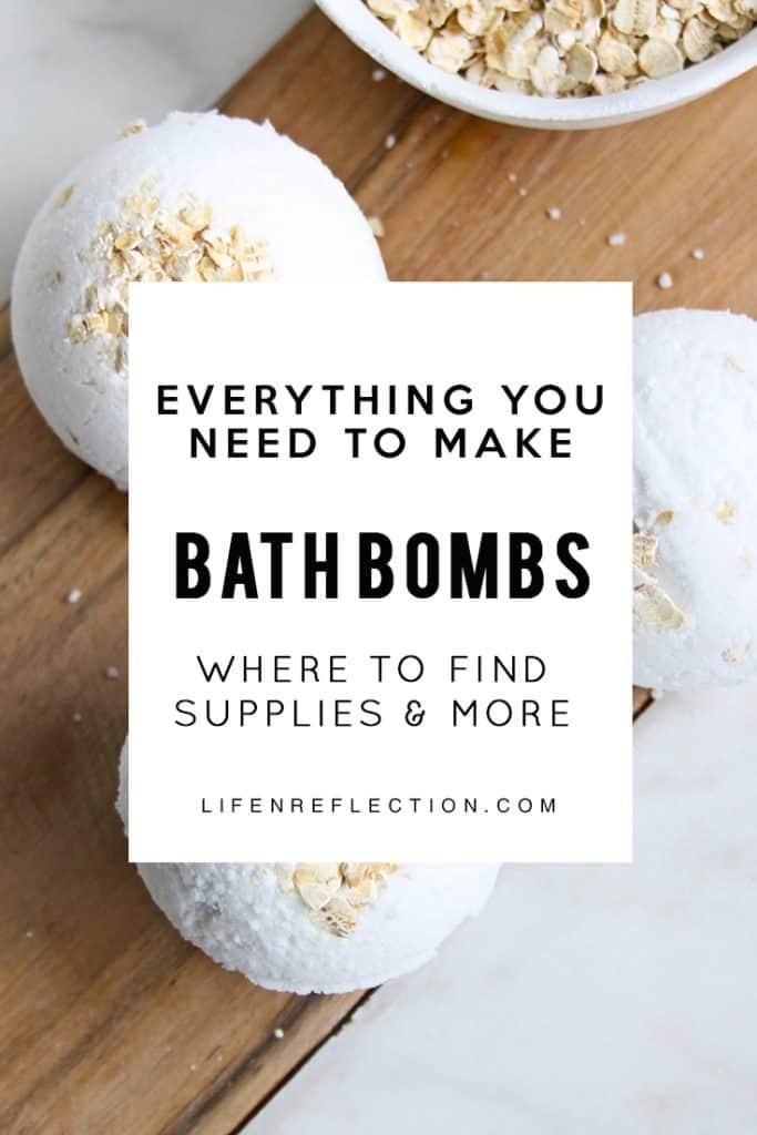 Where find supplies to make bath bombs
