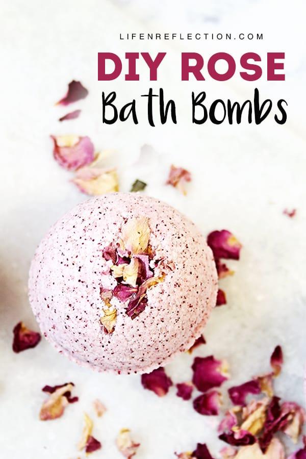 The best rose petal DIY bath bomb recipe!
