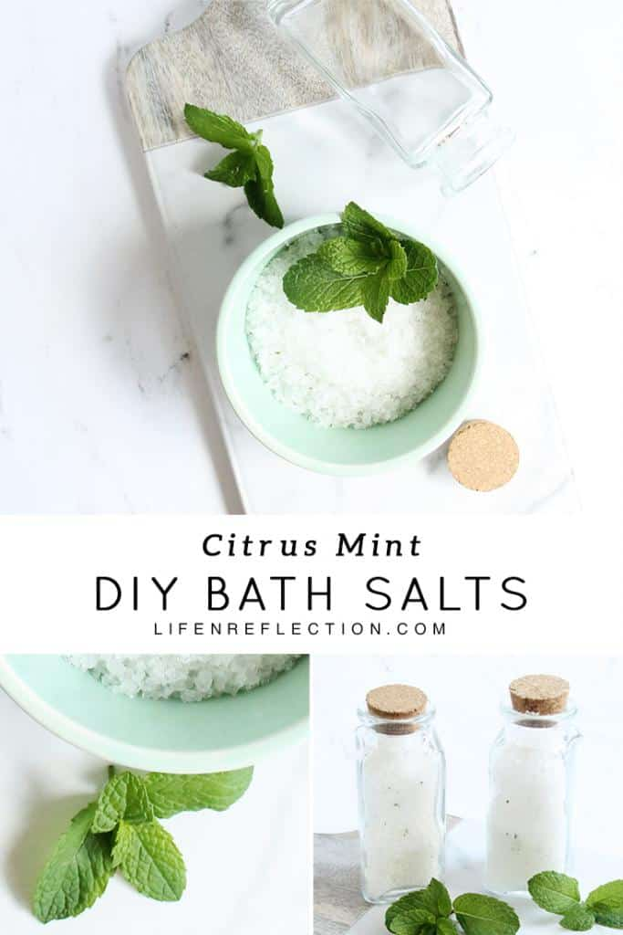 Natural ingredients for Citrus Mint Homemade Bath Salts