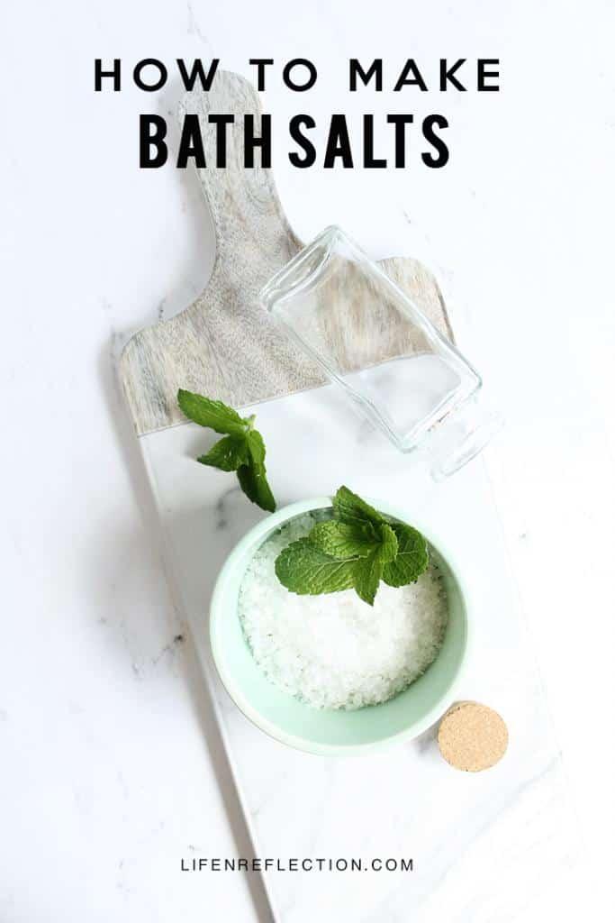 Citrus Mint Homemade Bath Salts Recipe with Essential Oils