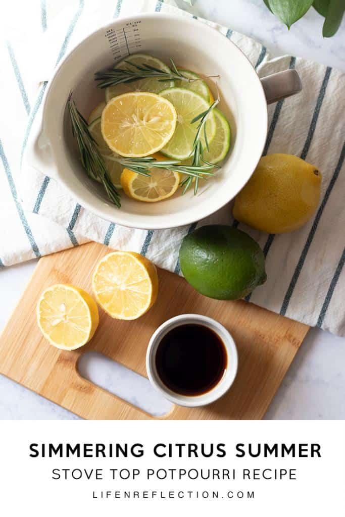Citrus Summer Homemade Stove Top Potpourri
