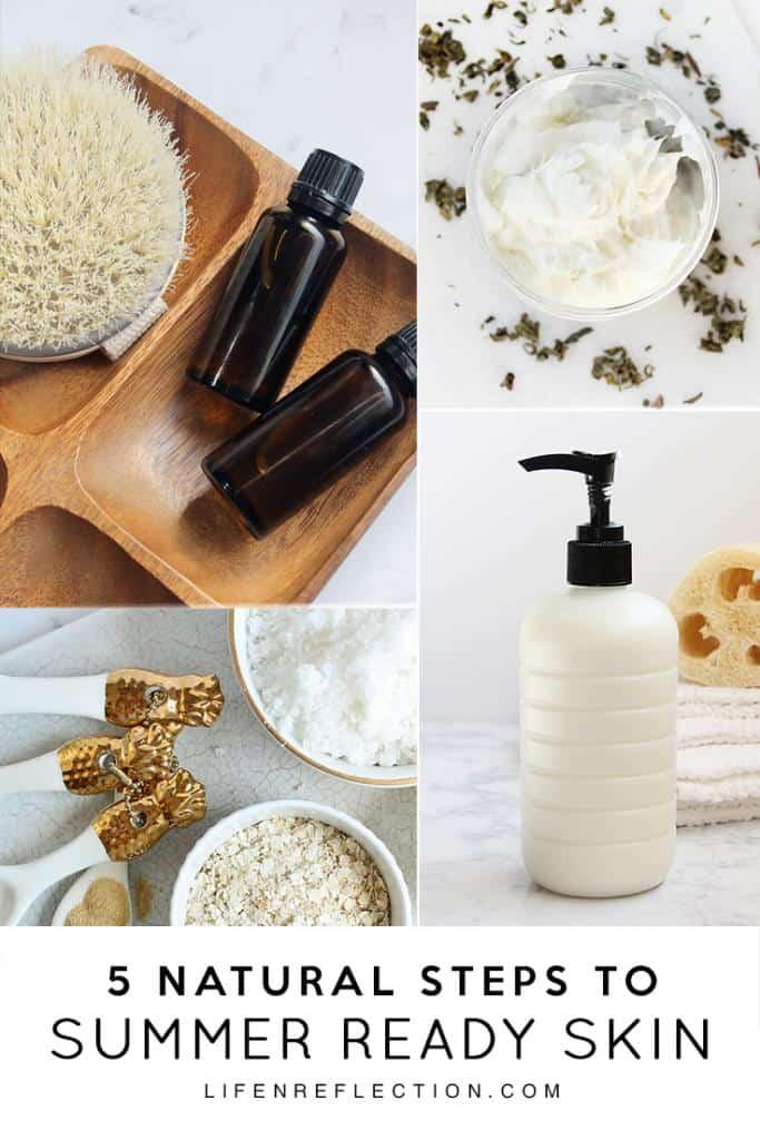 DIY Summer Ready Skin Recipes by lifenreflection.com #summerskin #naturalskincare #naturalskincaretips #diyskincarerecipes