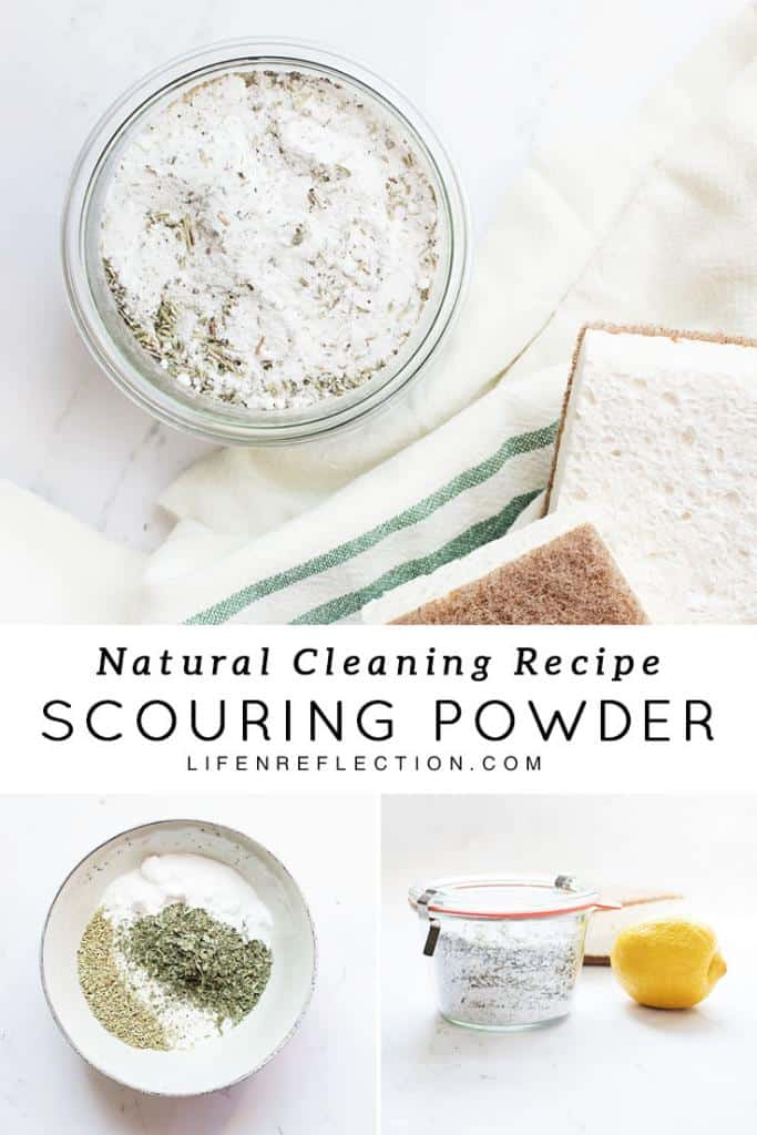 I love making this herbal homemade scouring powder!