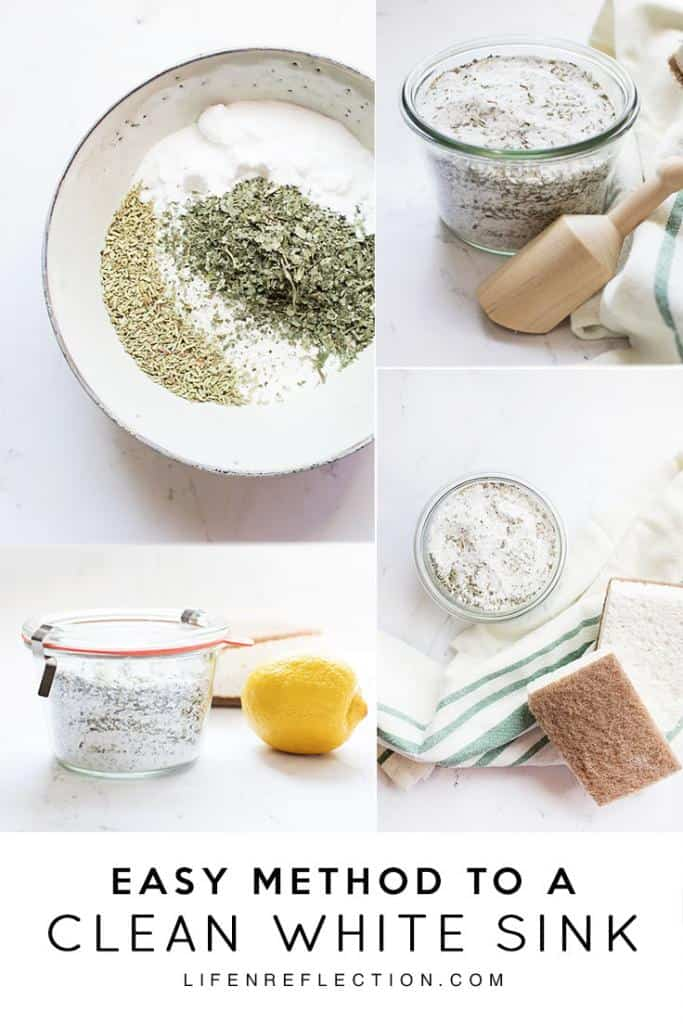 Ingredients for a natural, very effective homemade scouring powder.