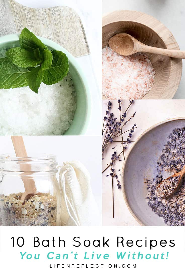 A long stressful day can be overcome with anyone of these bath soak recipes!