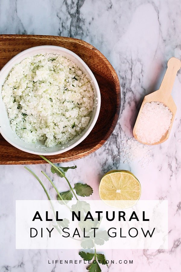 his salt glow recipe uses a mixture of salt, nourishing apricot oil, vitamin and fresh ingredients to make your skin feel like new!