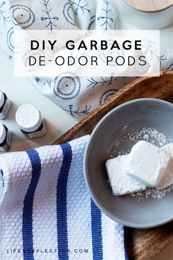 Garbage odors are bound to happen! Create a DIY Garbage Can Deodorizer Pods